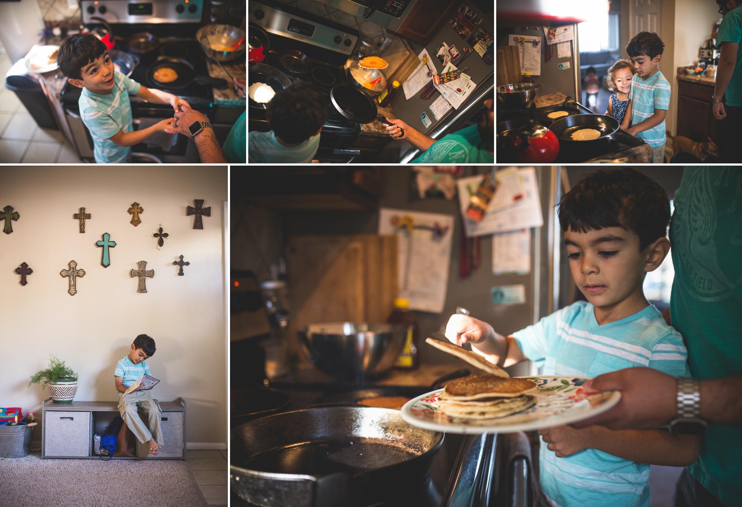 pancake making photo session