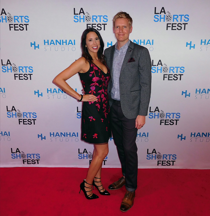 Kristin Bousquet (Producer, Casting Director) and David Bousquet (Director, DP) at L.A. International Short Film Festival