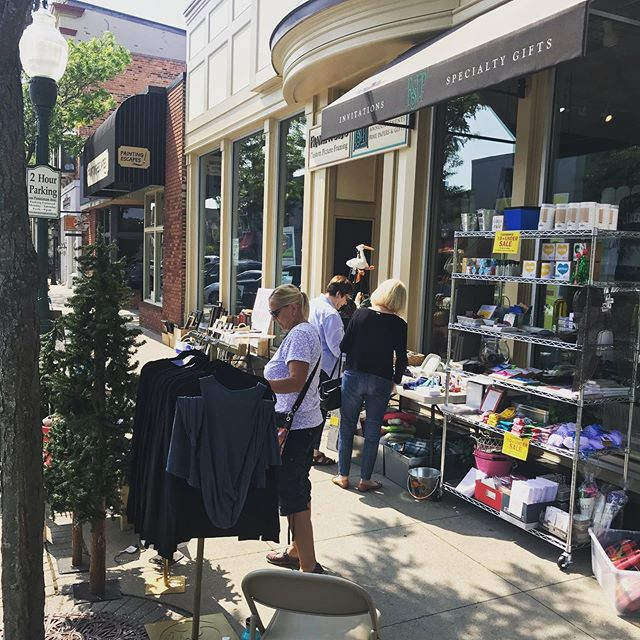 Inside Out Sales are happening today and tomorrow in Downtown Plymouth! We have items up to 75% off outside in the beautiful sunshine as well as inside the store in the cool air conditioning! Hope to see you! #insideoutsale #shopsmall #downtownplymouth #rsvpplymouth
