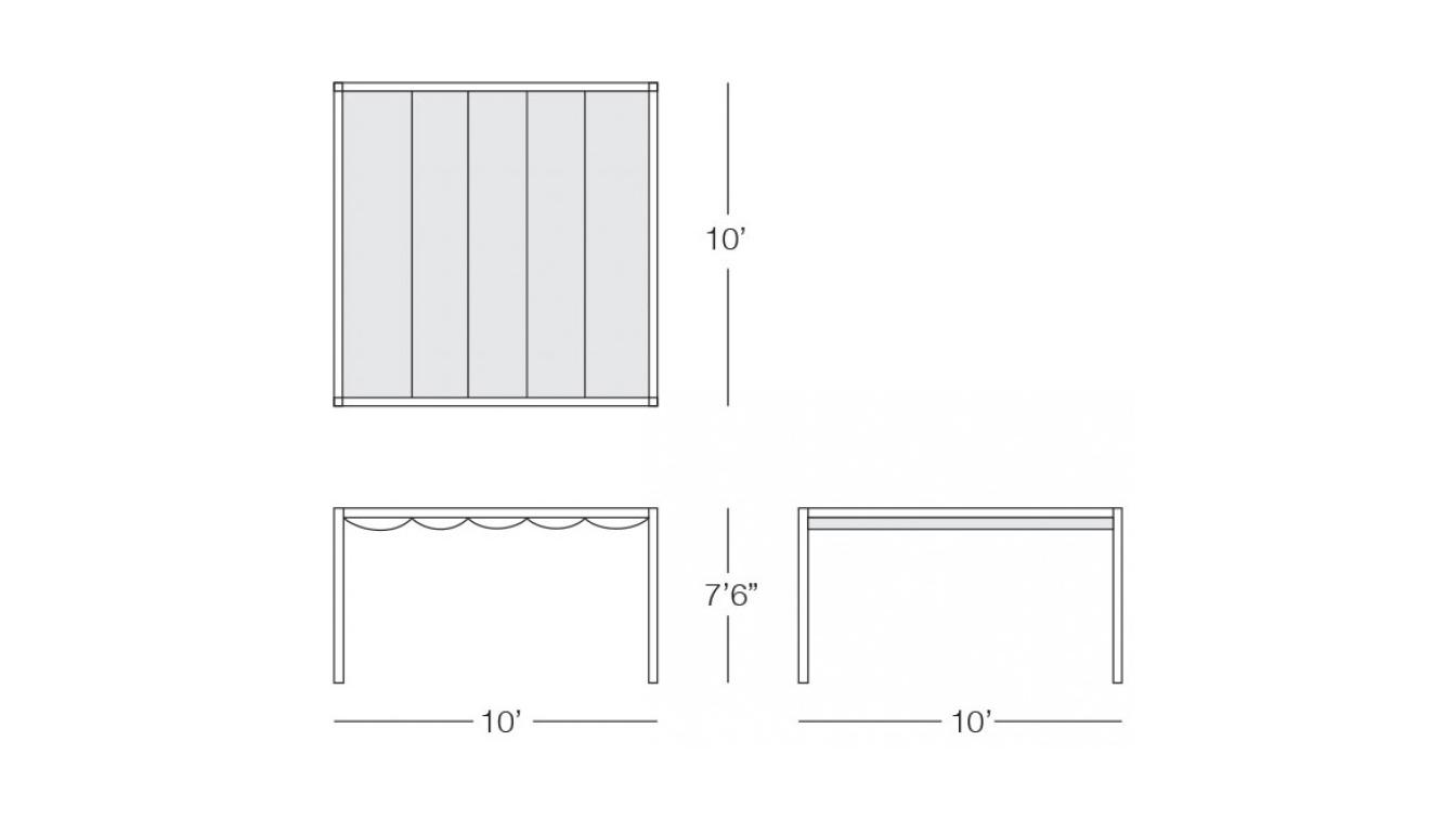 Kannoa - Wave Cabana Product Dimensions