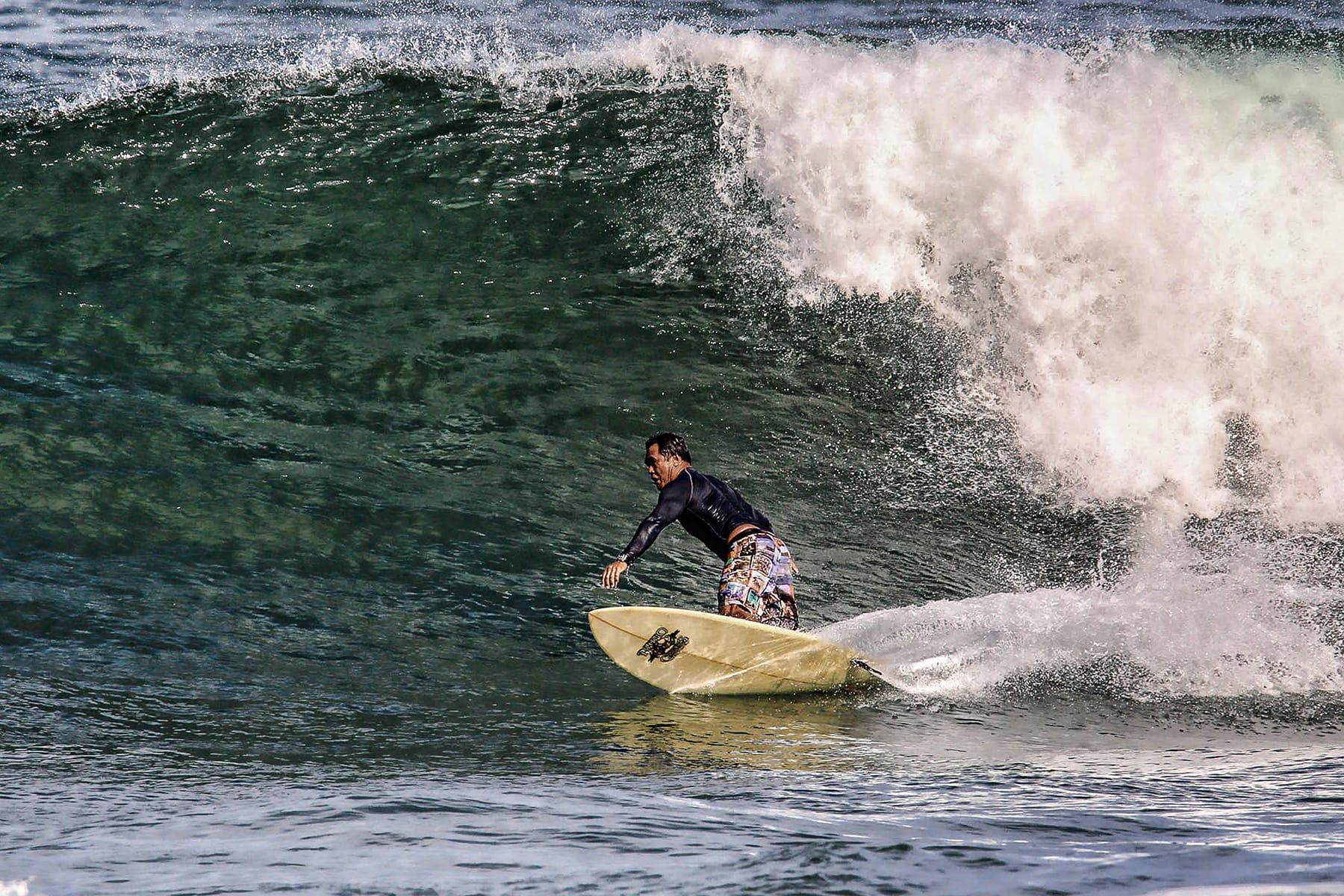 Dave surfing