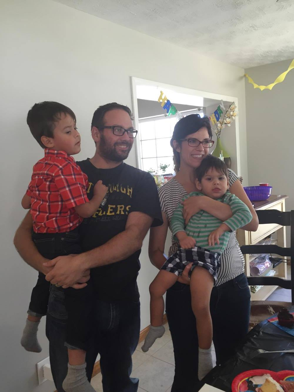 Family picture on Max's 2nd Birthday