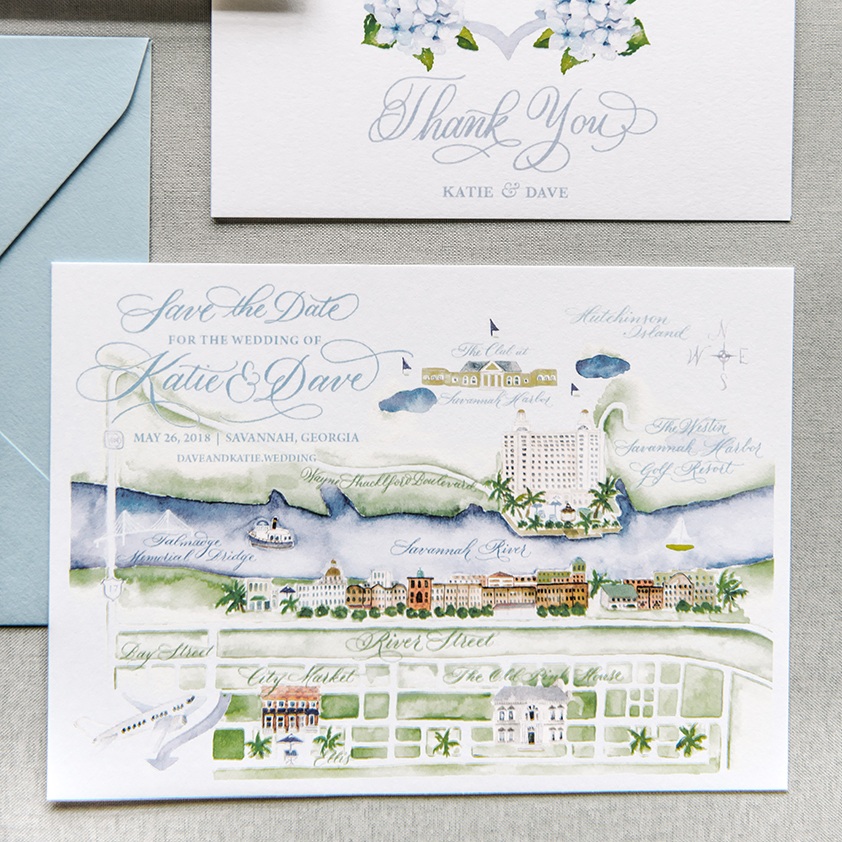 Destination Wedding Save The Date Card