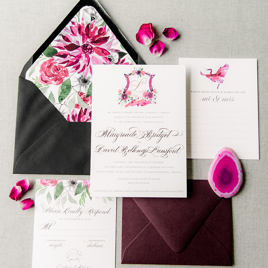 Black Tie Wedding Invitations