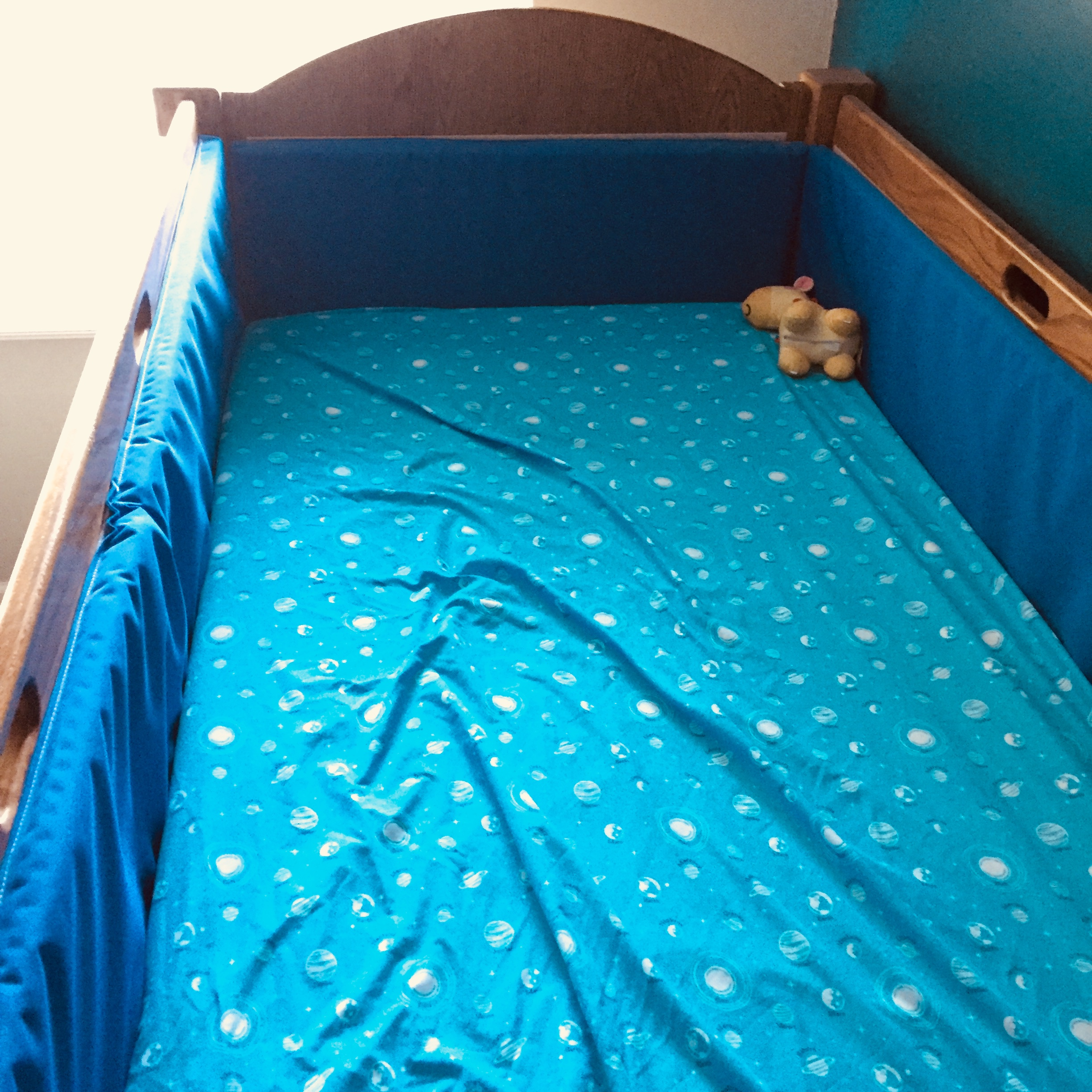 Inside of Max's Safety Bed- No Gaps!