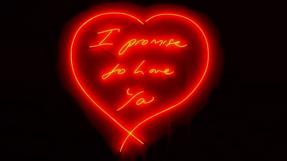 "Tracey Emin "" I Promise To Love You """