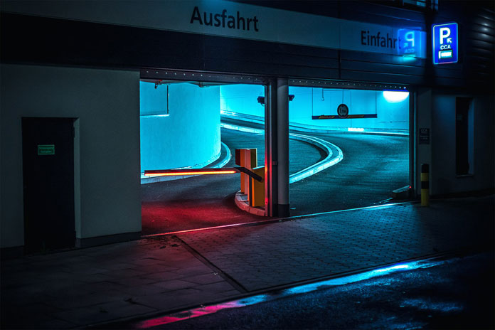 After-hours-in-Hamburg-by-Mark-Broyer-Parking-entrance.jpg