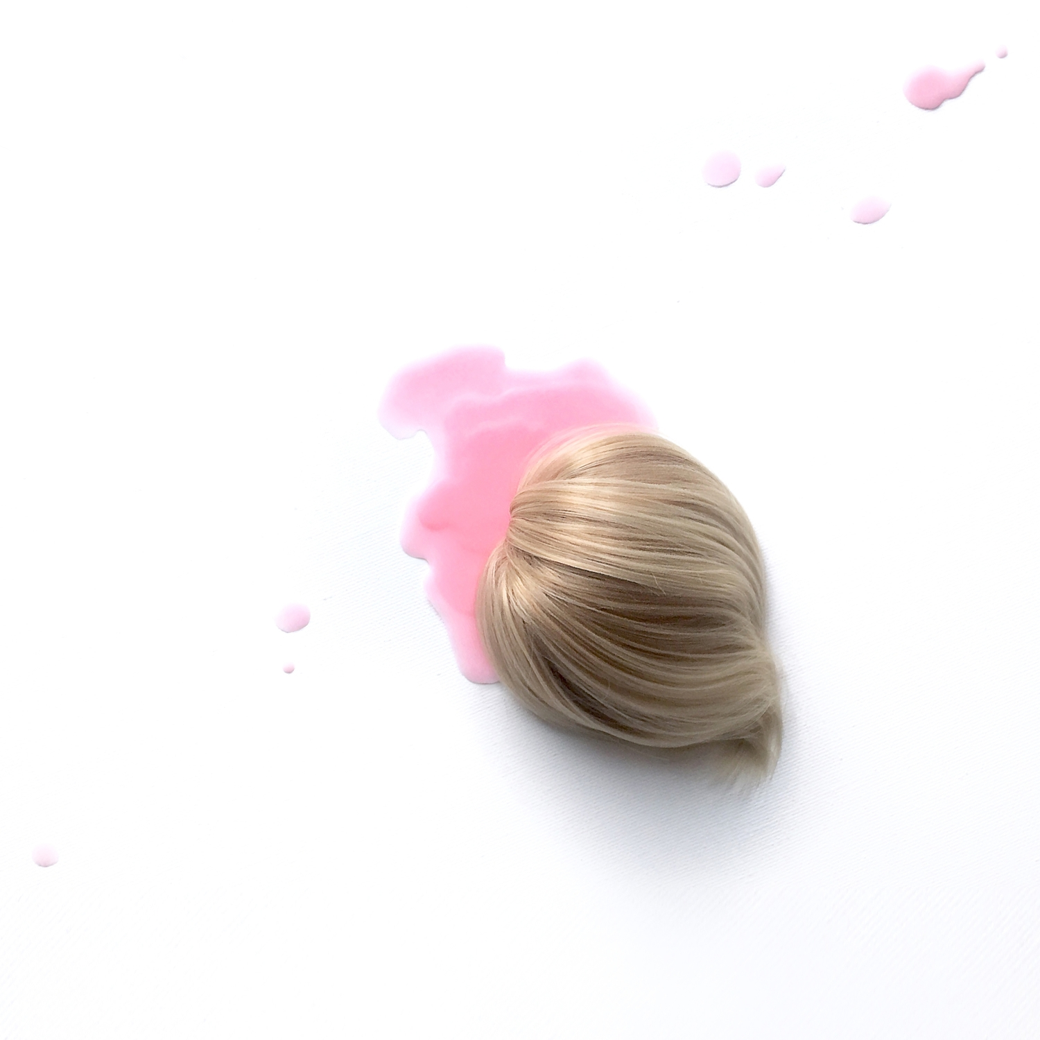 Dessert ? paraffin • synthetic hair, 300 x 200 mm