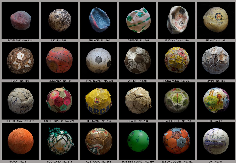 PENALTY – 24 Footballs © Mandy Barker.