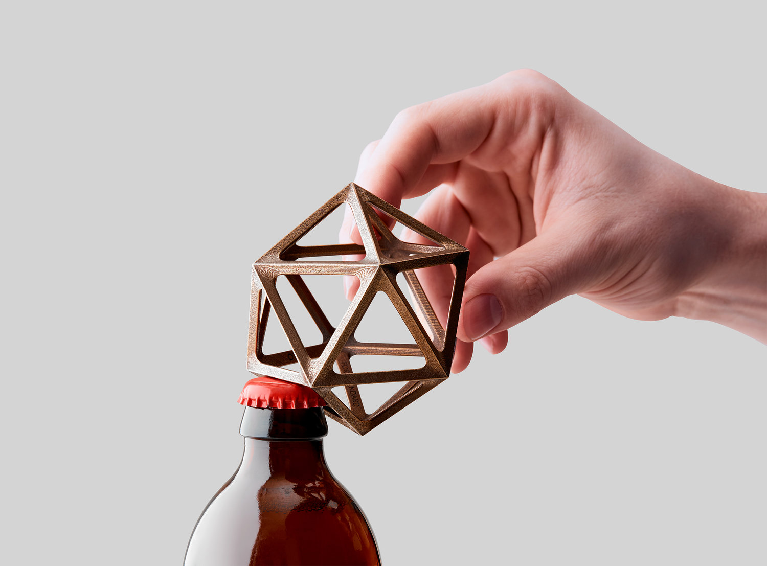 Ico Bottle Opener made with 3D printed bronze: OTHR x Fort Standard