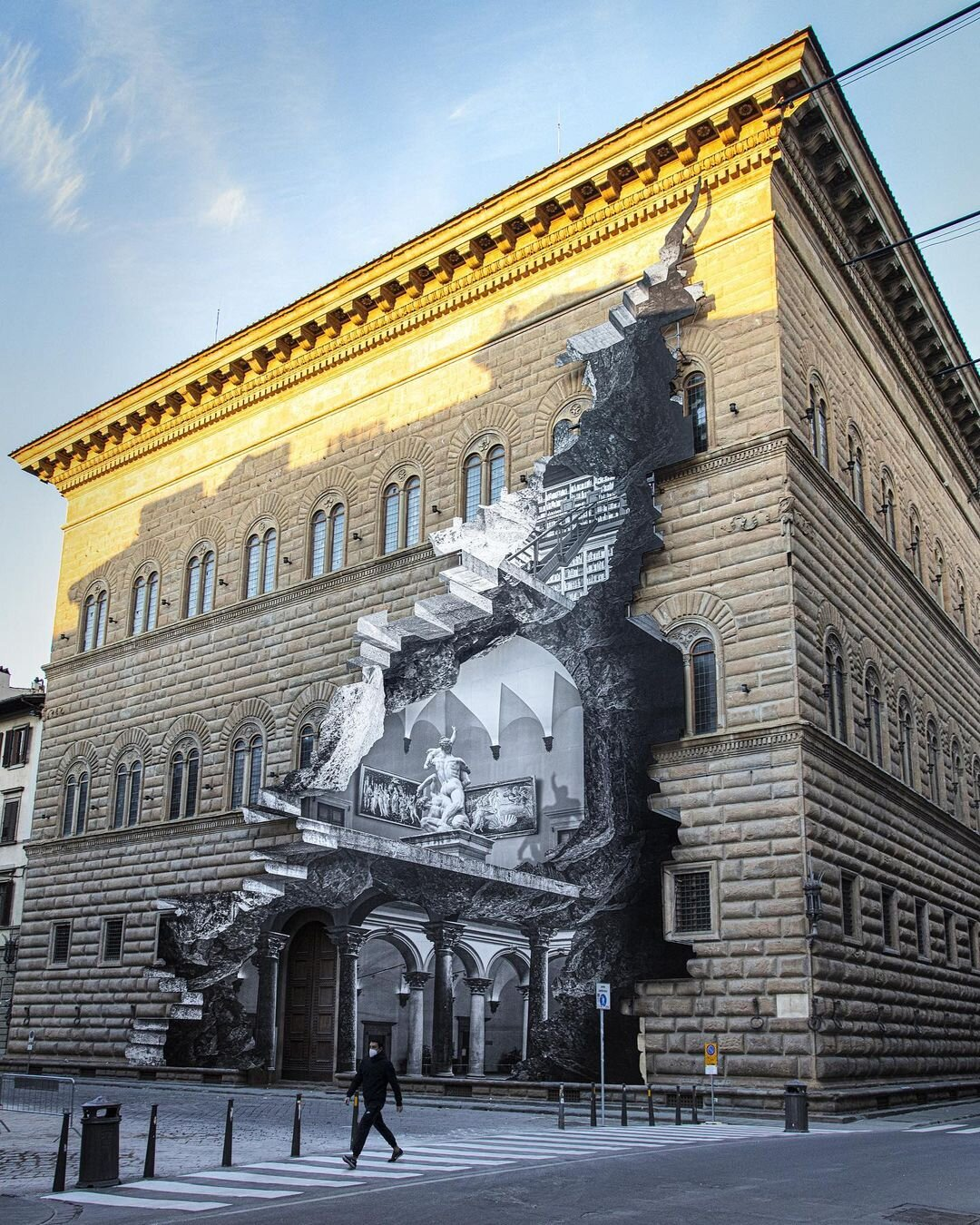 """Street artist JR reveals """"The Wound"""" in Florence — Designcollector"""