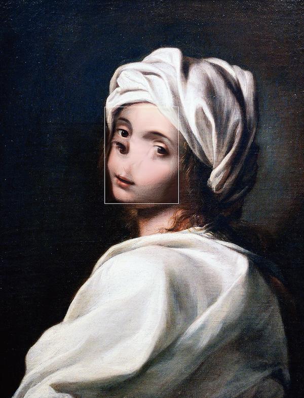 Portrait of Beatrice Cenci / Guido Reni (1600)