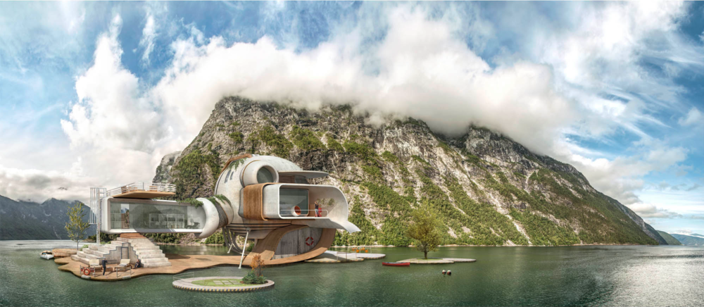Wittgenstein's cabin by Dionisio González