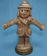 """This whimsical figurine was one of the """"Whimsies"""" that were given away as premiums with boxes of tea."""