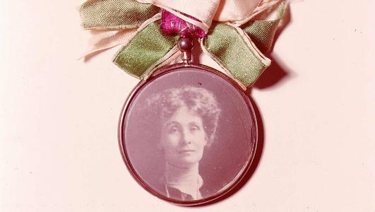 Emmeline Pankhurst portrait badge