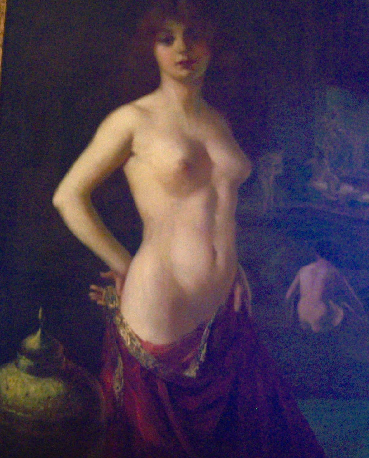 Harem Dancer painting with decidedly 20th century features