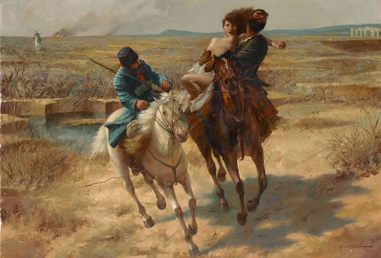 "This painting, ""The Abduction"" by Eugen Ansen-Hofmann, sold at Sotheby's in London for $28,000 in 2007"