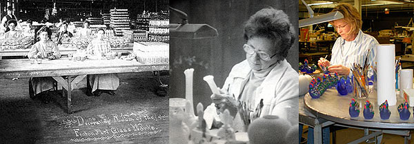 Fenton Glass Painting: 1900s; 1970s; 21st century