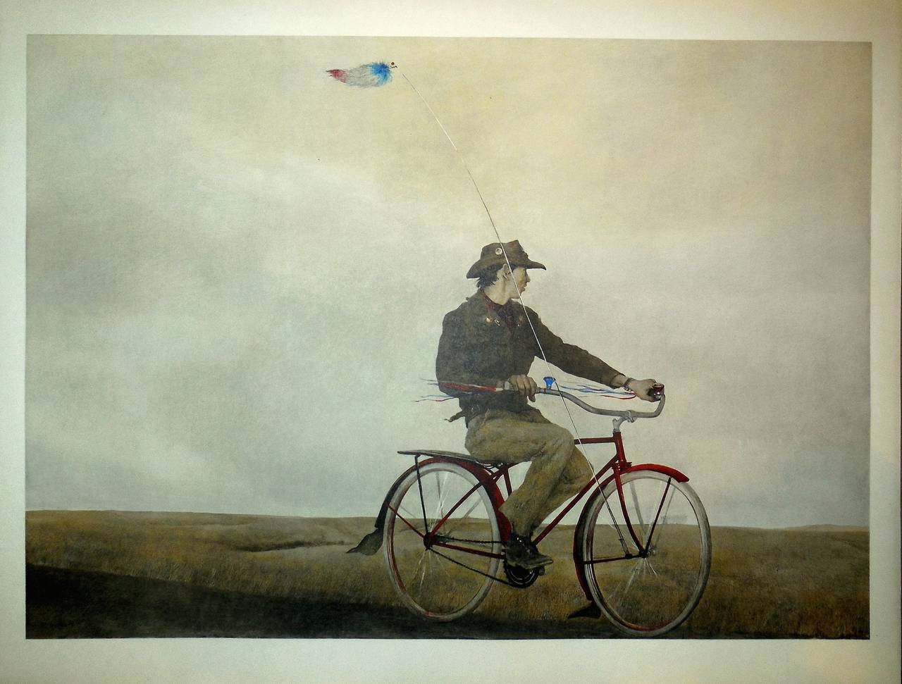 Andrew Wyeth's Young America hangs in the Pennsylvania Academy of Art - But you can buy the image as a postage stamp!