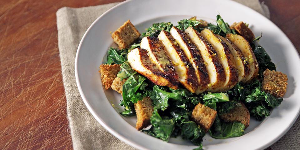 Toasted Kale Salad