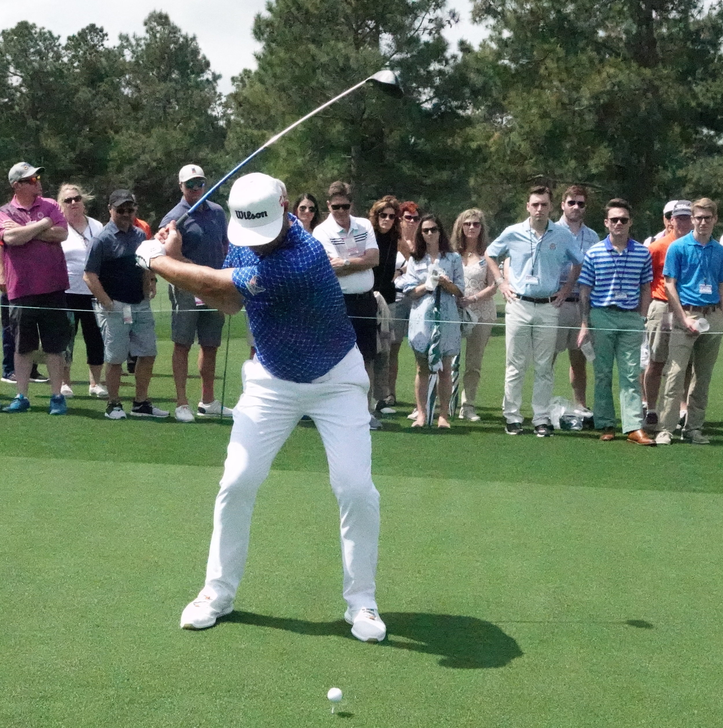 I photographed Gary Woodland's swing during the Monday practice round at this year's Masters.