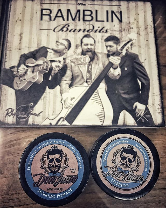 Get your quiff ready for summer  #ramblinbandits #donjuanpomade #koolsvilleshopping #koolsville  Don Juan #pomadeshop  #rhythmbombrecords #rockstarrecords  #thenocturnebrain #nocturne #mysterybrain #dixieland_danmark #denmark #hepcatstore #sweden #rockabilly #rockabillymusic #rockabillyhair #rockabillylife #rockabillyculture #rocknroll #rocknrollmusic #rocknrollstyle #tattoo #rockabillytattoos #rockabillyrebel #rockabillylifestyle #rockabillyweekend #rockabillyweekender #rockabillyrave #highrockabilly2017