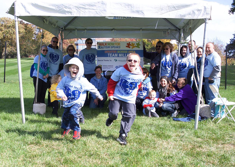 Austism Speaks family team blue tent.jpg