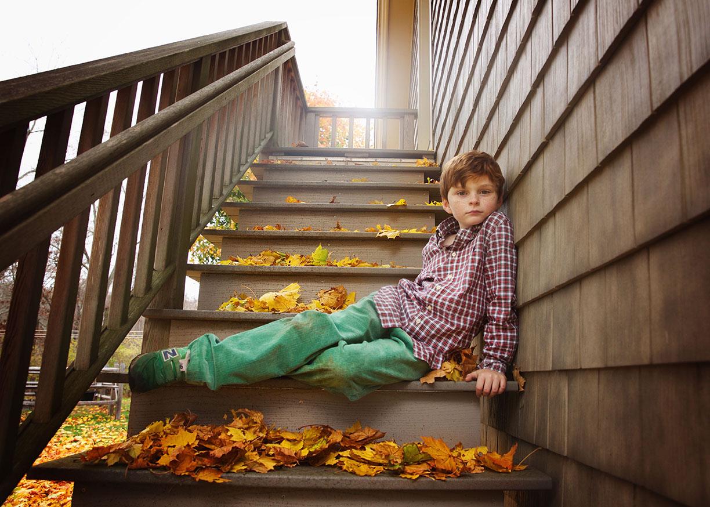 Little boy fall portrait shoot Connecticut darien.jpg