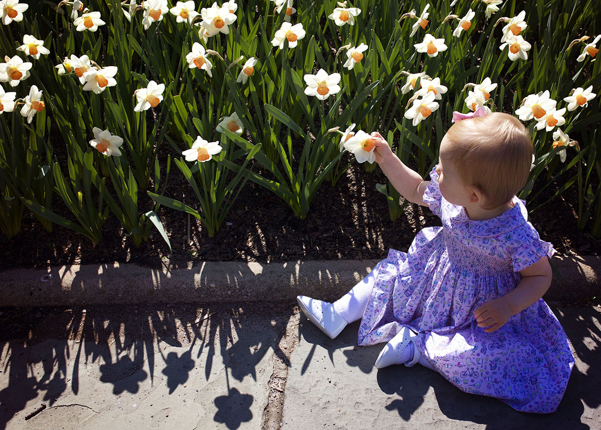 baby girl by the Camellia  .jpg