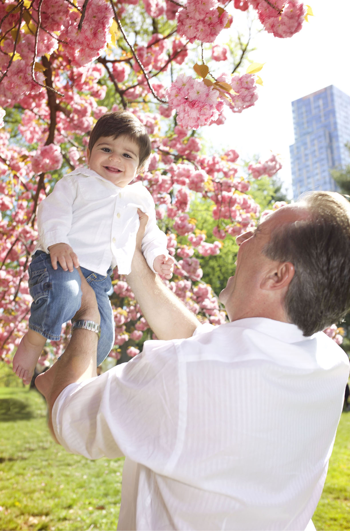 Cherry blossom family photo shoot father son.jpg
