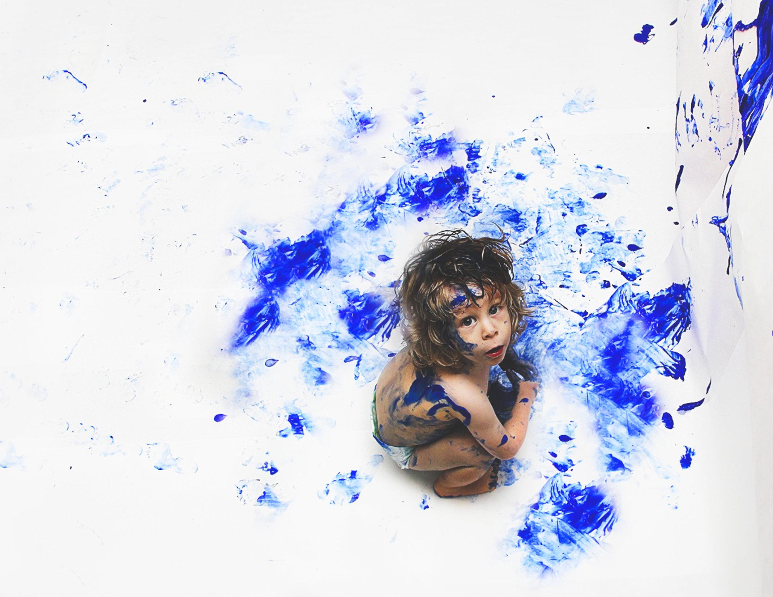Blue paint and little boy art photo copy.jpg