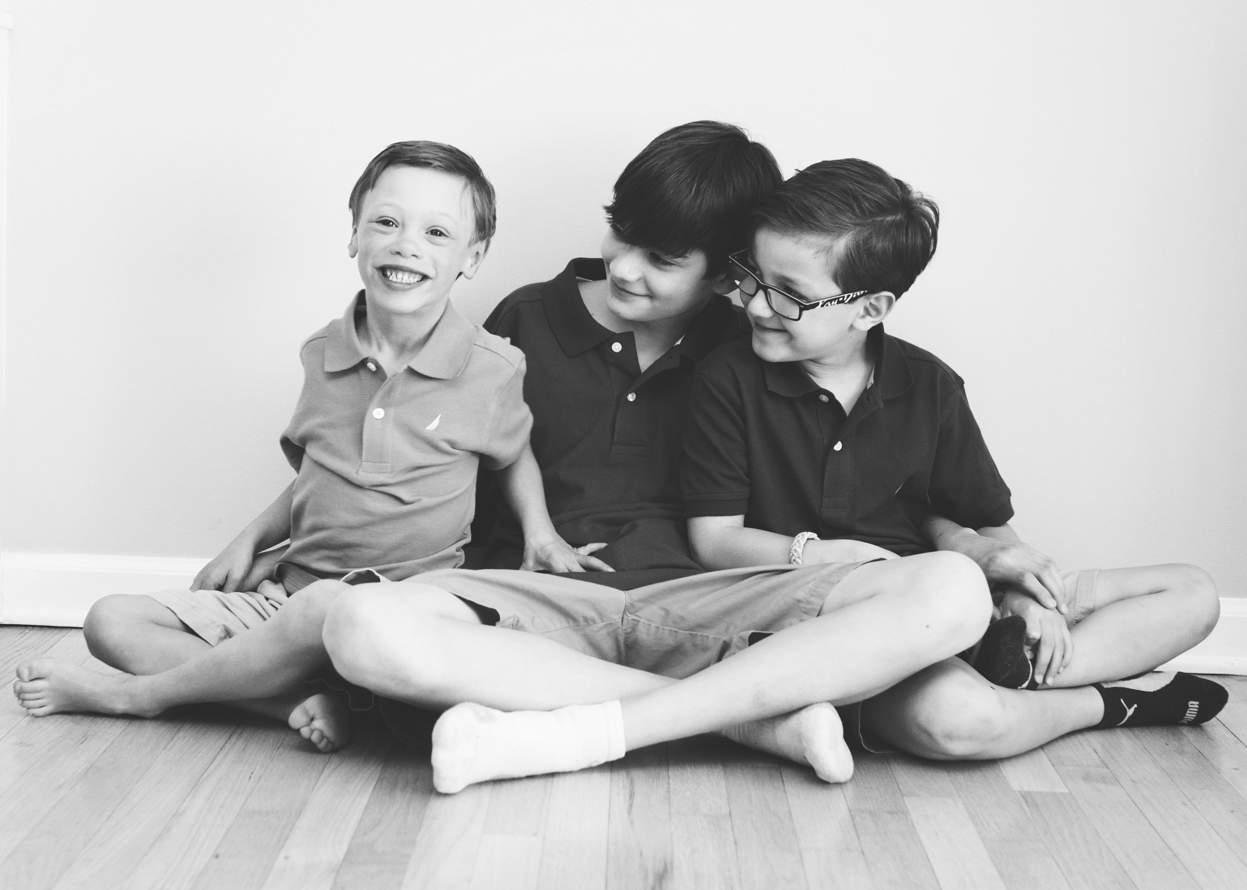 _Three brothers black and white studio shoot fairfield CT.jpg