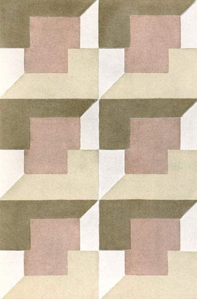 Textile Design by Elise Djo- Bourgeois, 1928