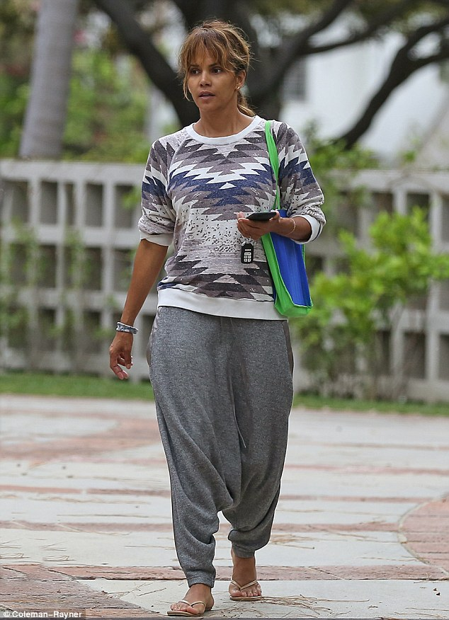 Even bond girls need a day off : Halle Berry in the Le Slouch Pant