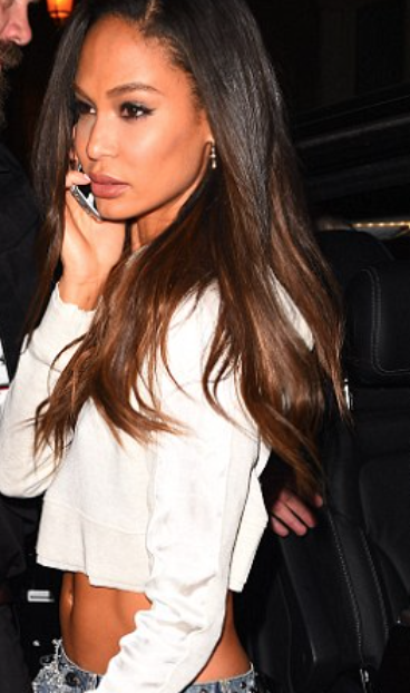 Joan Smalls in the Cropped Hoodie
