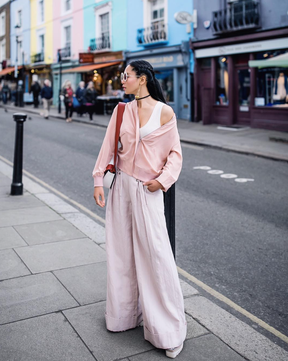 classic bomber in blush on @petiteflowerpresents