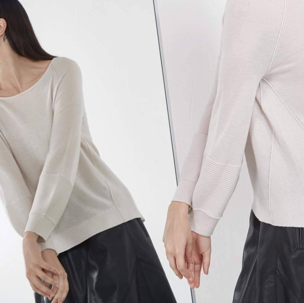 Cashmere Sweater in fog | art dept clothing
