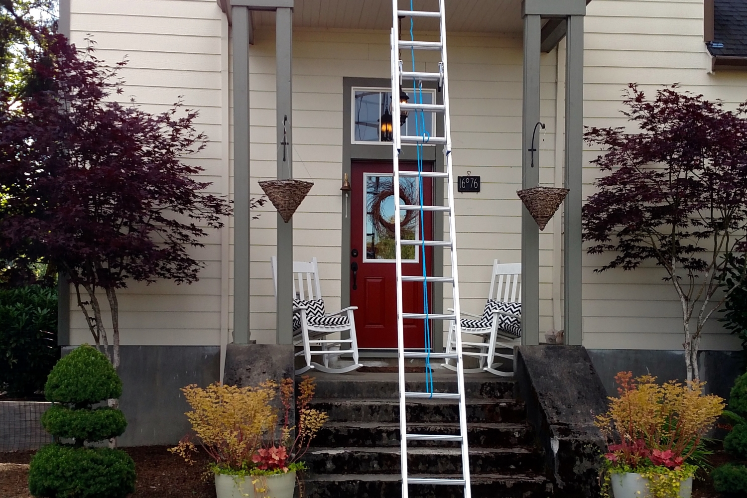 two story exterior house painting