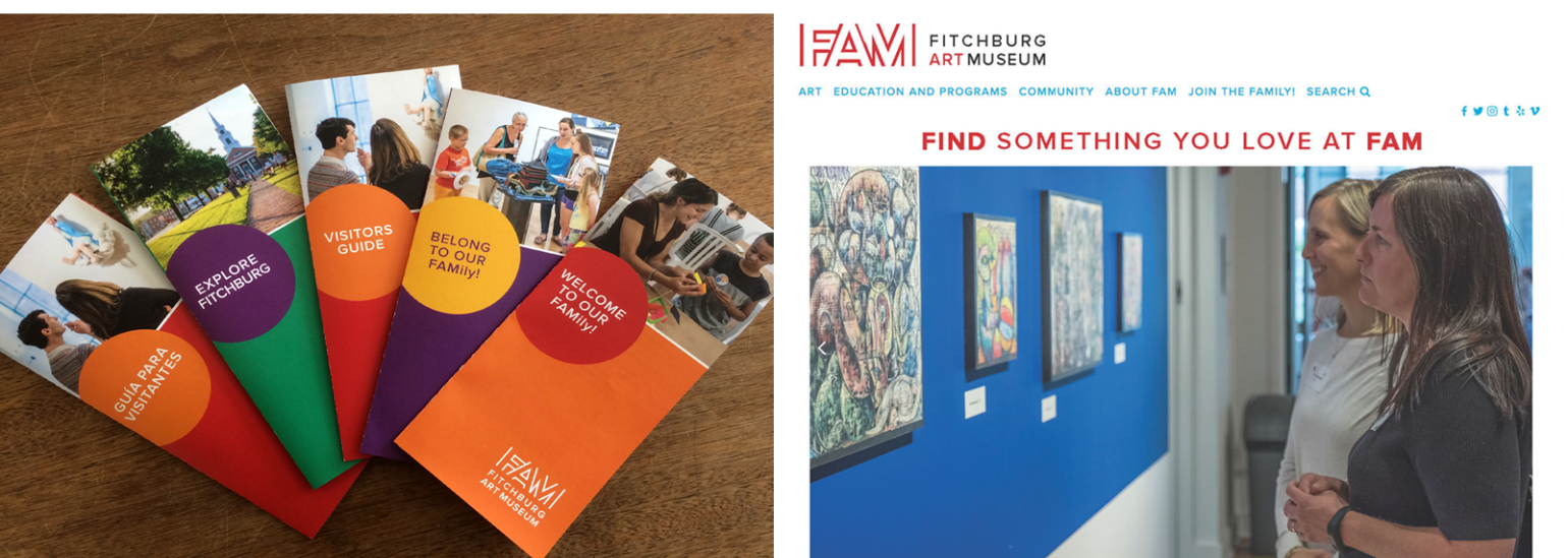 The resulting brand identity emphasizes family and embraces the people served by the museum rather than the product offered.