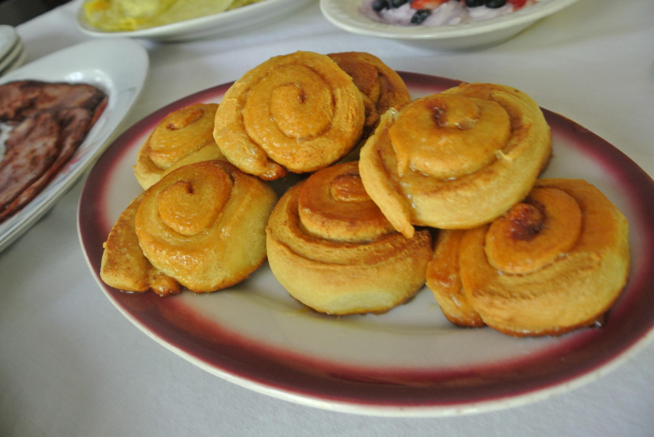 Orange glazed buns