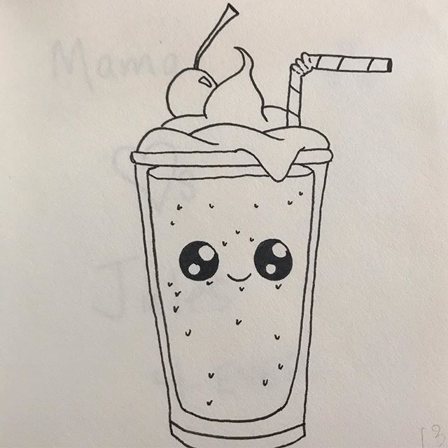 Milkshakes can be cute, too!  But what flavor is he?