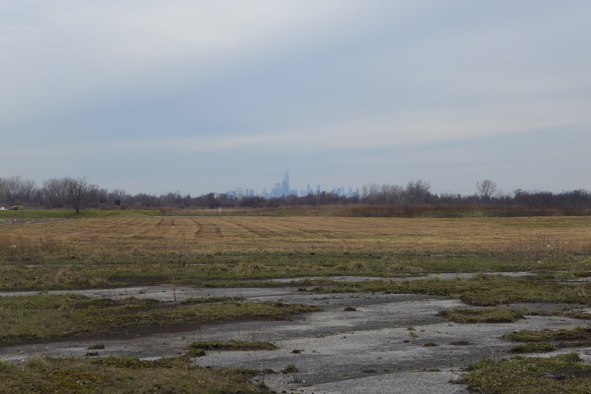View of Manhattan from Floyd Bennett Field