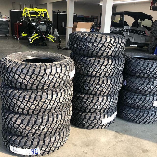 A lot of tires to mount