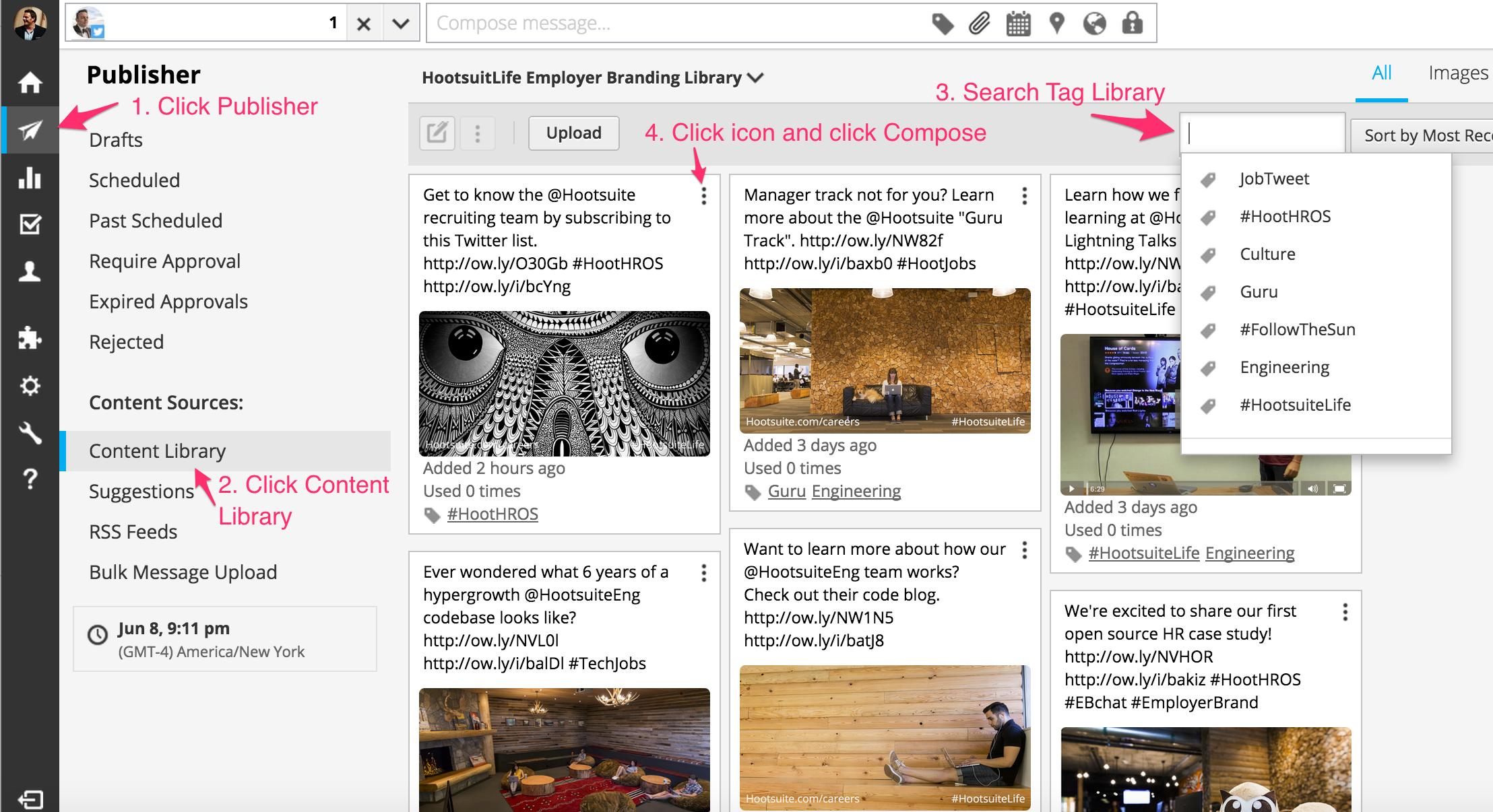 Hootsuite Employer Branding Asset Library