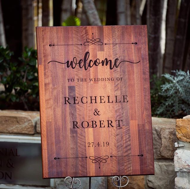 We make more than just leather goods. Here is some signage I laser engraved a little while ago for my brothers wedding, and safe to say it turned out a treat! DM us if you're interested in some custom laser engraving/cutting as we haven't quite added this option to our website yet.  #fusedgoods #lasercutting #laserengraving #weddingsigns #wedding