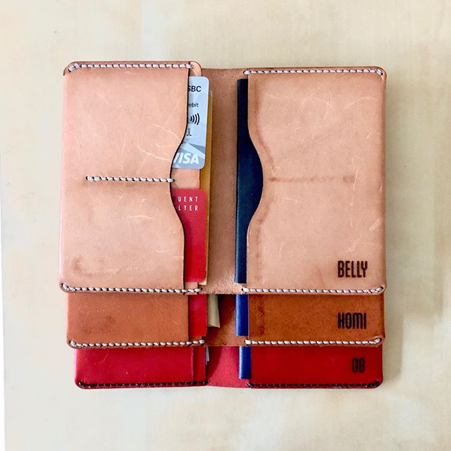 Whilst I may be jealous that you're travelling and I'm not, I'm glad you sent me some photos of our passport wallets in use.  #handmadewallet #passportwallet #passportholder #leathercraft #handmade