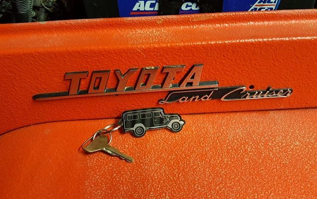 Toyota 40 series keyrings are beginning to reach mailboxes all around the country, so prepare yourself for lots more photos of them.  #fusedgoods #carkeyring #40series #landcruiser #troopy