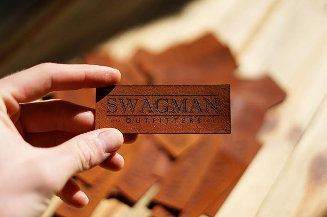 A small batch of custom laser engraved leather patches are heading out the door today on their way to @swagmanoutfitters . Love working with local makers and can't wait to see them on some gear.  #leathertags #laserengraved #australianmade