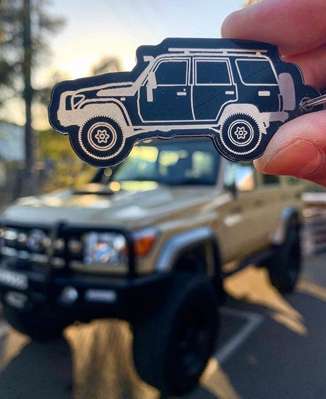 Whilst I'm enjoying a nice week at the beach, keyrings are continuing to arrive around the country. Cheers for this ripper shot @overlandwego  #fusedgoods #myminicar #76series #landcruiser