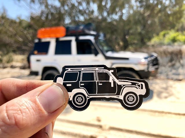 76 Series LandCruiser love coming all the way from Fraser Island. Fun fact, @76adventures car is what the keyring design is modelled from.  #myminicar #fusedgoods #landcruiser #landcruiser70 #landcruiser70series #toyota
